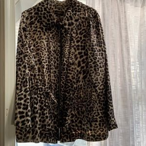 Dane Buchman cheetah print jacket